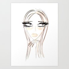 Lady Browny Art Print