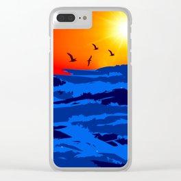 sun set A Clear iPhone Case