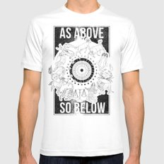 As Above, So Below - Zodiac Illustration Mens Fitted Tee MEDIUM White