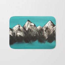 Turquoise Mountains by Noelle's Art Loft Bath Mat