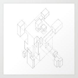 Split Cube Art Print