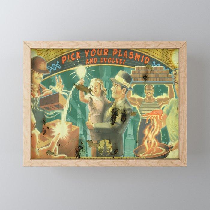 Bioshock ADS Poster - Pick your plasmids Framed Mini Art Print