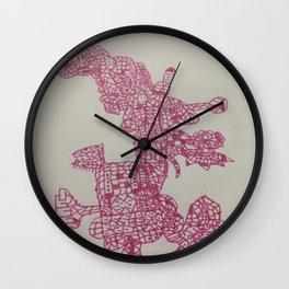 Pink Pattern Wall Clock