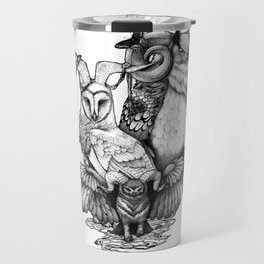 Goatowls (In B&W) Travel Mug