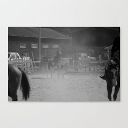 Working in the dust  Canvas Print