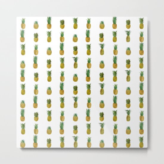 Mini Pineapples Metal Print