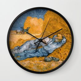 Noon – Rest from Work by Vincent Van Gogh Wall Clock