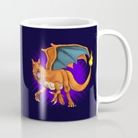 charizard Mugs featuring Charizard by Aliece Carney