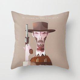 Clint Eastwood (El bueno, el feo y el malo) Throw Pillow