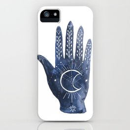 A Good Outlook Palmistry Illustration  iPhone Case