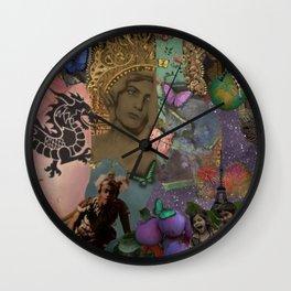 Fireworks and butterflies Wall Clock