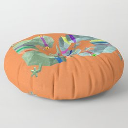 Polygonal gecko Floor Pillow