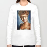 laura palmer Long Sleeve T-shirts featuring Who Pixelated Laura Palmer :; Twin Peaks by Kristin Frenzel