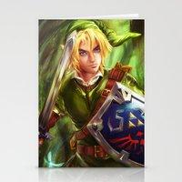 the legend of zelda Stationery Cards featuring Link - Legend of Zelda by Sanjin Halimic