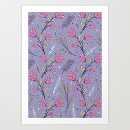Flower Pattern 2 Art Print