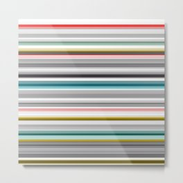 grey and colored stripes Metal Print