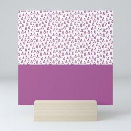 Triangles Purple Mini Art Print