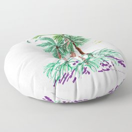 """Triplet Palms"" Floor Pillow"