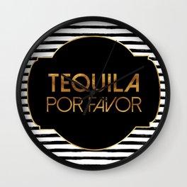 Tequila Por Favor Wall Clock