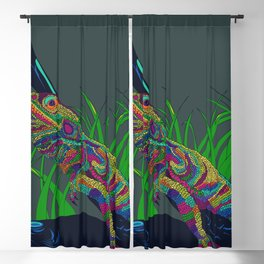 Colorful Lizard Blackout Curtain