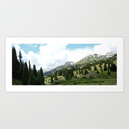 Looking Down on the Black Bear Pass Road from the Longfellow Mine Art Print