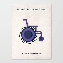 The Theory Of Everything Minimalist Poster - Black Hole Canvas Print