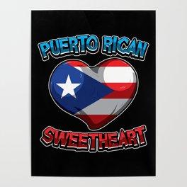 Puerto Rican Sweetheart - Boricua Heart Poster