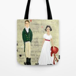 Mr.Darcy of Pemberley and Miss Bennet of Longbourn Tote Bag