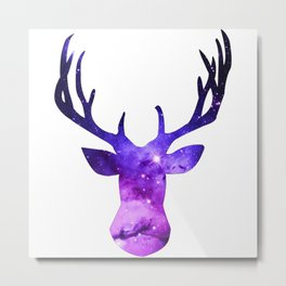 Galaxy Deer Metal Print