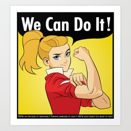 Adora Says We Can Do It Art Print