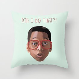 Steven Urkel : DID I DO THAT? Throw Pillow