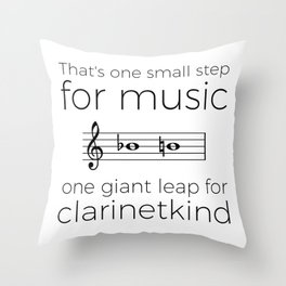 Crossing the break (clarinet) Throw Pillow