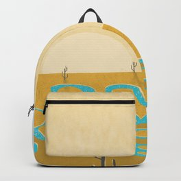 A stream of water in warm yellow desert Backpack