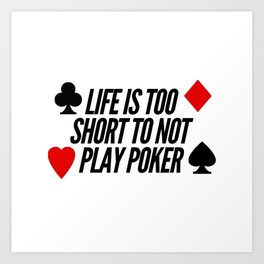 Play Poker | cards online gift idea Art Print