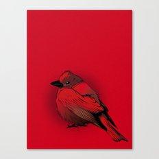 Little Red Bird Canvas Print