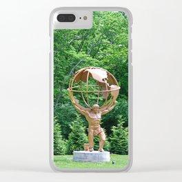 Atlas- vertical Clear iPhone Case