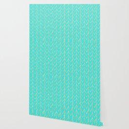 Festive Chevron Pattern Wallpaper