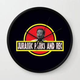Jurassic Parks And Rec Wall Clock