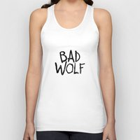 bad wolf Tank Tops featuring Bad Wolf by Geek Bias