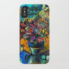 Flowers in Blue Landscape iPhone Case