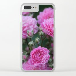 Gloomy Roses Clear iPhone Case