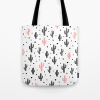 cactus Tote Bags featuring Cactus  by Make-Ready