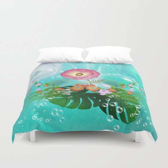 Floral design Duvet Cover
