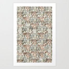 Dreamcatcher Pattern Art Print