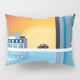 Detroit, Michigan - Skyline Illustration by Loose Petals Pillow Sham