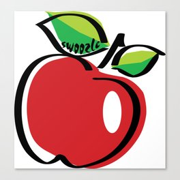 Apple Swoozle Canvas Print