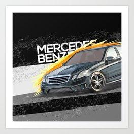 Car MB w212 Art Print