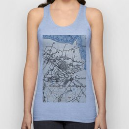 Vintage Map of Palo Alto California (1899) Unisex Tank Top