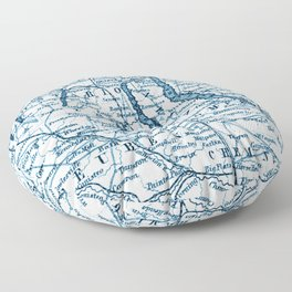 Vintage Finger Lakes Floor Pillow