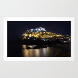 Castelsardo by night Art Print